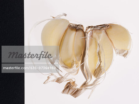 Close up of split garlic clove Stock Photo - Premium Royalty-Free, Image code: 635-07364960