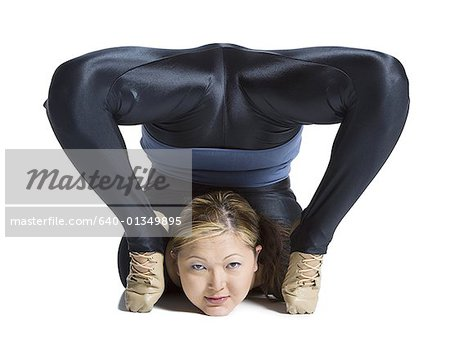 Female contortionist