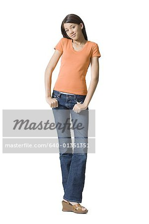 Portrait of a girl posing Stock Photo - Premium Royalty-Free, Image code: 640-01351351
