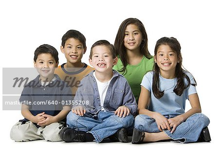 Portrait of brothers and sisters Stock Photo - Premium Royalty-Free, Image code: 640-01355208