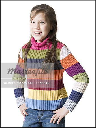 Portrait of a girl smiling Stock Photo - Premium Royalty-Free, Image code: 640-01356161
