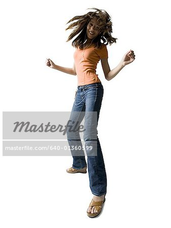 Portrait of a girl dancing Stock Photo - Premium Royalty-Free, Image code: 640-01360599