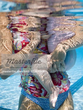 Mother and daughter in swimming pool Stock Photo - Premium Royalty-Free, Image code: 640-01364146