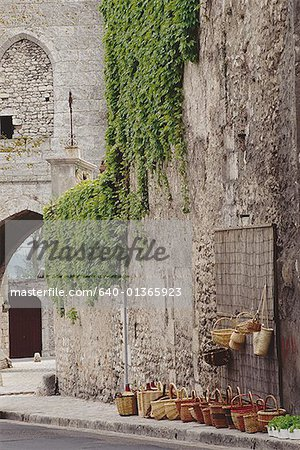 Vines on the wall of a building Stock Photo - Premium Royalty-Free, Image code: 640-01365923