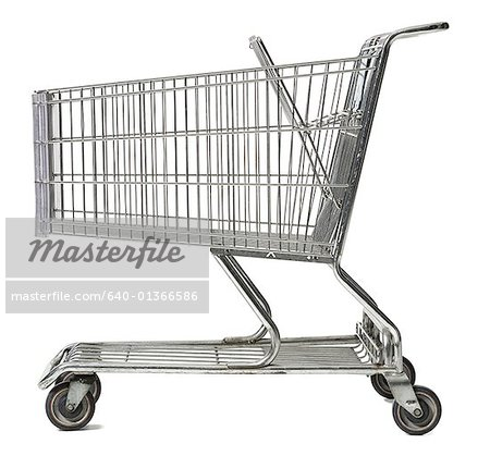 Close-up of an empty shopping cart Stock Photo - Premium Royalty-Free, Image code: 640-01366586