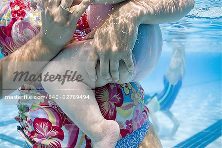 Mother and daughter in swimming pool Stock Photo - Premium Royalty-Free, Image code: 640-02769494