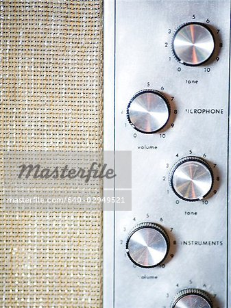 knobs in a recording studio Stock Photo - Premium Royalty-Free, Image code: 640-02949521