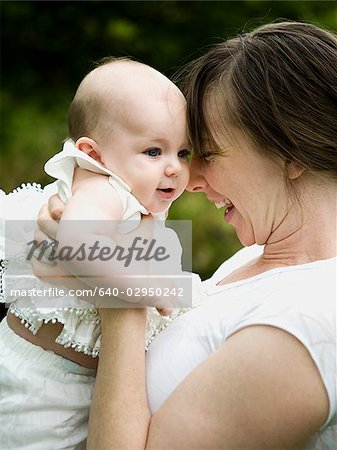 mother and baby girl Stock Photo - Premium Royalty-Free, Image code: 640-02950242