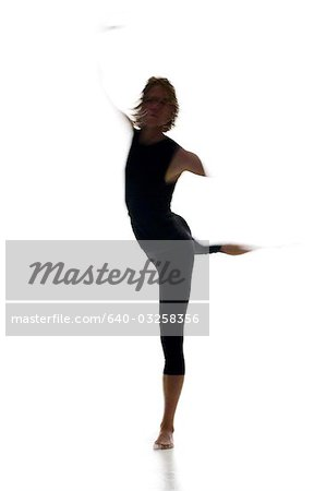 Silhouette of ballet dancer Stock Photo - Premium Royalty-Free, Image code: 640-03258356