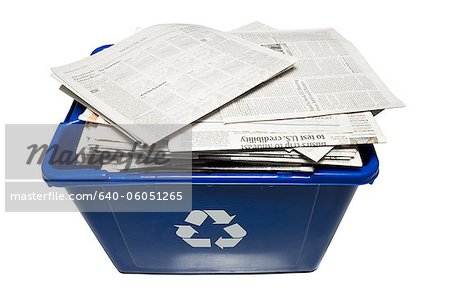 recycling bin Stock Photo - Premium Royalty-Free, Image code: 640-06051265