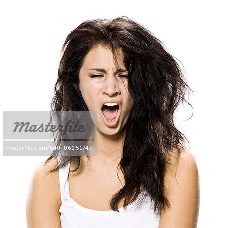 woman who just woke up Stock Photo - Premium Royalty-Free, Image code: 640-06051747