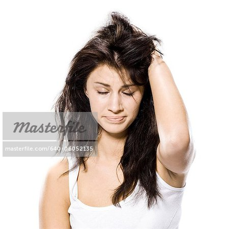 woman just waking up Stock Photo - Premium Royalty-Free, Image code: 640-06052135