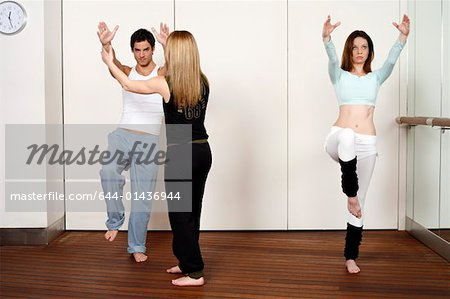 Students in an Active Tae Bo class Stock Photo - Premium Royalty-Free, Image code: 644-01436944