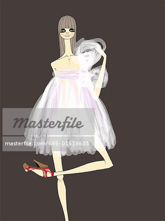 Woman dressed ballerina style Stock Photo - Premium Royalty-Free, Image code: 645-01538633