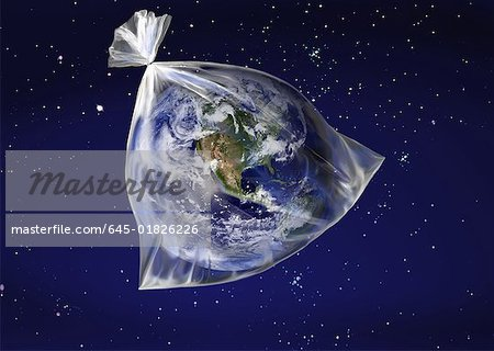 The earth in a plastic bag Stock Photo - Premium Royalty-Free, Image code: 645-01826226