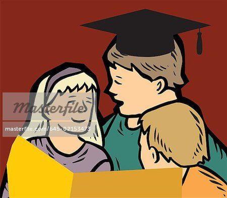 Students studying together Stock Photo - Premium Royalty-Free, Image code: 645-02153473