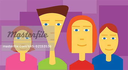 Close up view of family Stock Photo - Premium Royalty-Free, Image code: 645-02153536