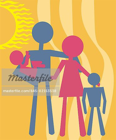Family standing together Stock Photo - Premium Royalty-Free, Image code: 645-02153538