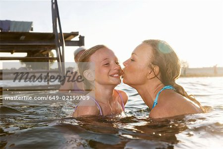 Mother kissing daughter Stock Photo - Premium Royalty-Free, Image code: 649-02199709