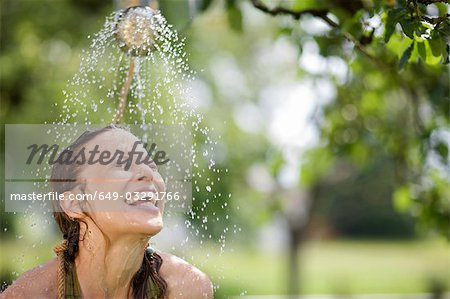woman in nature Stock Photo - Premium Royalty-Free, Image code: 649-03291766