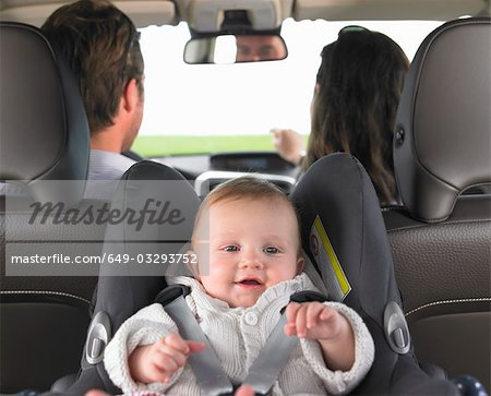baby in car seat Stock Photo - Premium Royalty-Free, Image code: 649-03293752