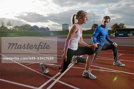 2 athletes training together Stock Photo - Premium Royalty-Free, Image code: 649-03417689