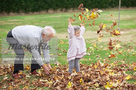 Grandfather and Granddaughter Stock Photo - Premium Royalty-Free, Image code: 649-03447751