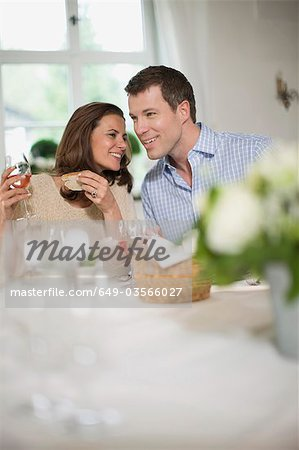 Couple having lunch Stock Photo - Premium Royalty-Free, Image code: 649-03566027