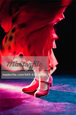 Flamenco feet Stock Photo - Premium Royalty-Free, Image code: 649-03621785