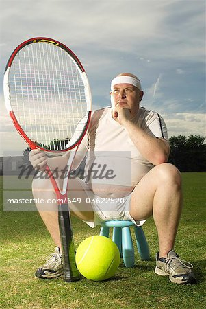 Large tennis player portrait Stock Photo - Premium Royalty-Free, Image code: 649-03622520