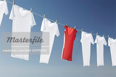 Washing line Stock Photo - Premium Royalty-Free, Image code: 649-03770246