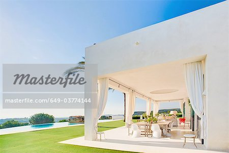 Beautiful terrace in luxury villa, Spain Stock Photo - Premium Royalty-Free, Image code: 649-03774144