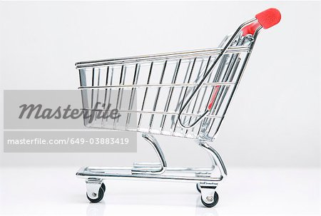 Empty shopping cart Stock Photo - Premium Royalty-Free, Image code: 649-03883419