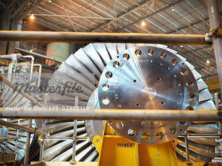 Turbine in power station Stock Photo - Premium Royalty-Free, Image code: 649-03883724