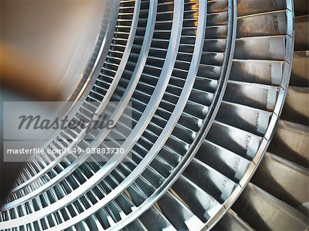 Turbine in power station Stock Photo - Premium Royalty-Free, Image code: 649-03883730