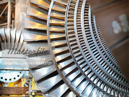 Turbines in power station Stock Photo - Premium Royalty-Free, Image code: 649-03883737