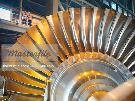 Workers with turbine in power station Stock Photo - Premium Royalty-Free, Image code: 649-03883739