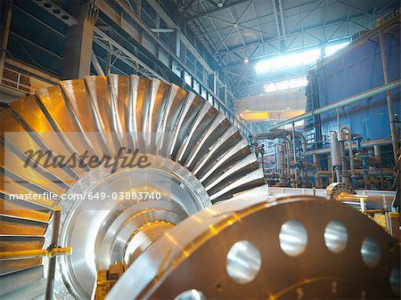Turbine in power station Stock Photo - Premium Royalty-Free, Image code: 649-03883740