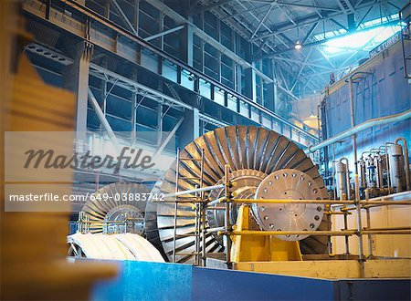 Turbines in power station Stock Photo - Premium Royalty-Free, Image code: 649-03883742