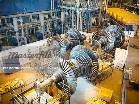 Turbines in power station Stock Photo - Premium Royalty-Free, Image code: 649-03883745