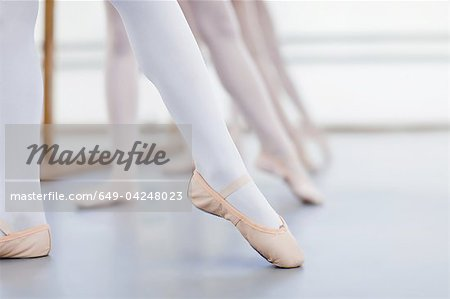 Close up of ballet dancers' feet Stock Photo - Premium Royalty-Free, Image code: 649-04248023