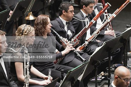 Winds section in orchestra Stock Photo - Premium Royalty-Free, Image code: 649-05555718