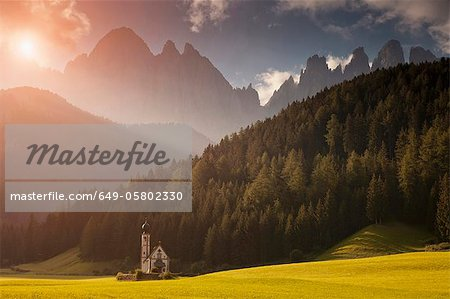 Saint Johann Church, Val di Funes, Ranui, South Tyrol, Dolomites, Italy Stock Photo - Premium Royalty-Free, Image code: 649-05802330