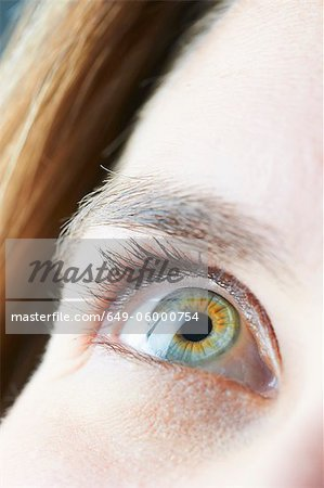 Close up of womans eye Stock Photo - Premium Royalty-Free, Image code: 649-06000754