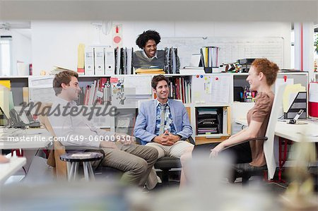 Business people talking in office Stock Photo - Premium Royalty-Free, Image code: 649-06000930