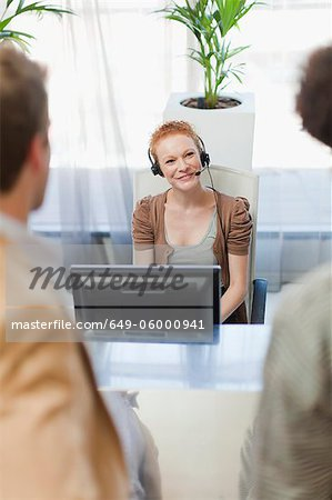Business people talking in office Stock Photo - Premium Royalty-Free, Image code: 649-06000941