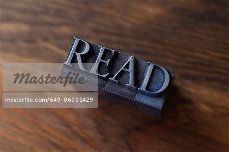 "Lead type spelling ""read"" Stock Photo - Premium Royalty-Free, Image code: 649-06001429"