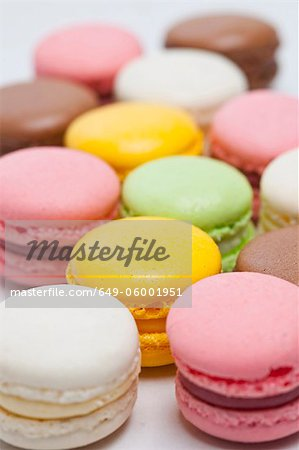 Close up of colored macarons Stock Photo - Premium Royalty-Free, Image code: 649-06001951