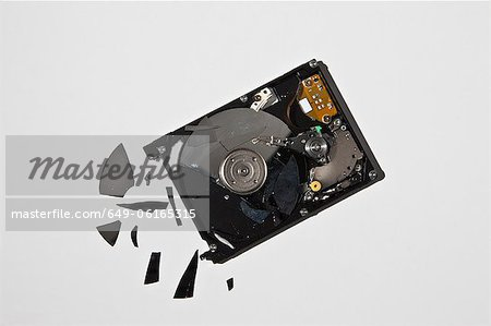 Pile of smashed computer parts Stock Photo - Premium Royalty-Free, Image code: 649-06165315
