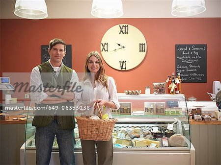 Couple shopping in grocery store Stock Photo - Premium Royalty-Free, Image code: 649-06353038